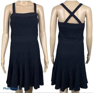Chanel Vintage 90's Black Fit Flare Knit Dress